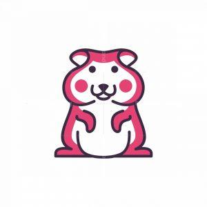Cute Hamster Mascot Logo