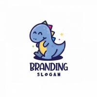 Happy Dinosaur Logo