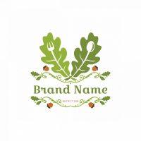 Healthy Oak Leaves Symbol Logo