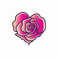 Heart Shaped Rose Logo
