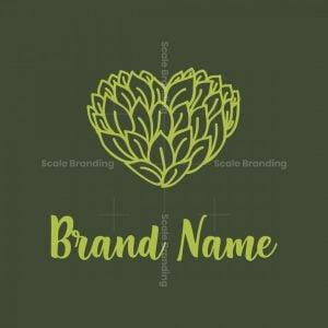 Leaves Heart Shape Logo