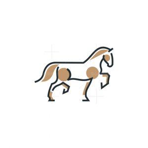 Geometric Horse Icon Logo