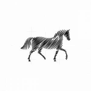 Line Art Horse Icon Logo