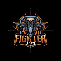 Jets Fighter Mascot Logo