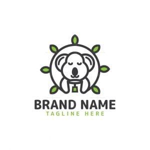 Koala And Tea Logo
