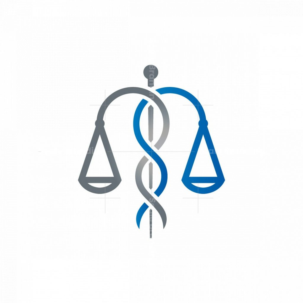Law Caduceus Logo Scale Of Justice Medical Logo