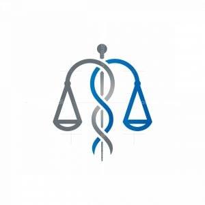 Law Caduceus Logo Scale Of Justice Medical Logo