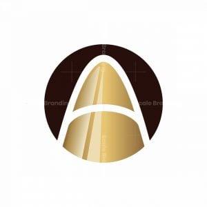 Letter A Bullet Logo