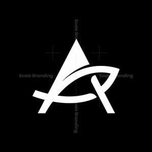 Letter A Fish Logo