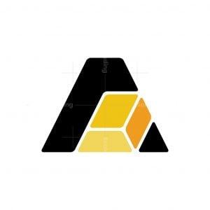 Letter A Gold Logo