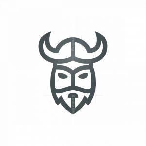 Line Silver Viking Logo