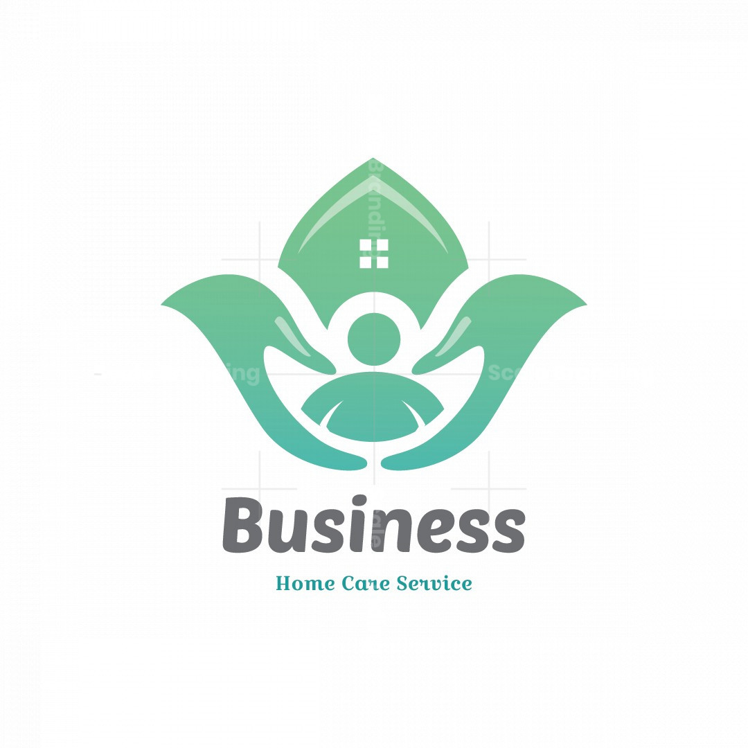 Lotus Hands Home Care Service Symbol Logo