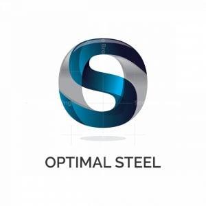 Optimal Steel Letter S 3d Logo