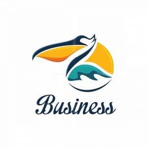 Pelican Bird Symbol Logo