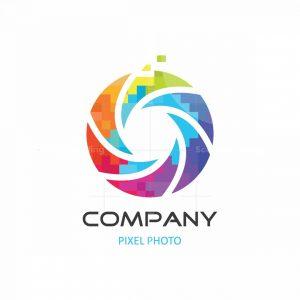 Pixel Photo Symbol Logo