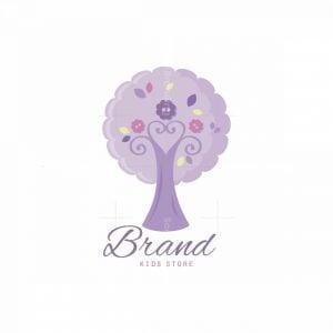 Purple Tree Symbol Logo