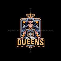 Queen Mascot Logo