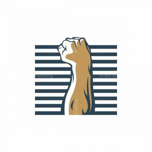 Raised Fist Icon Logo