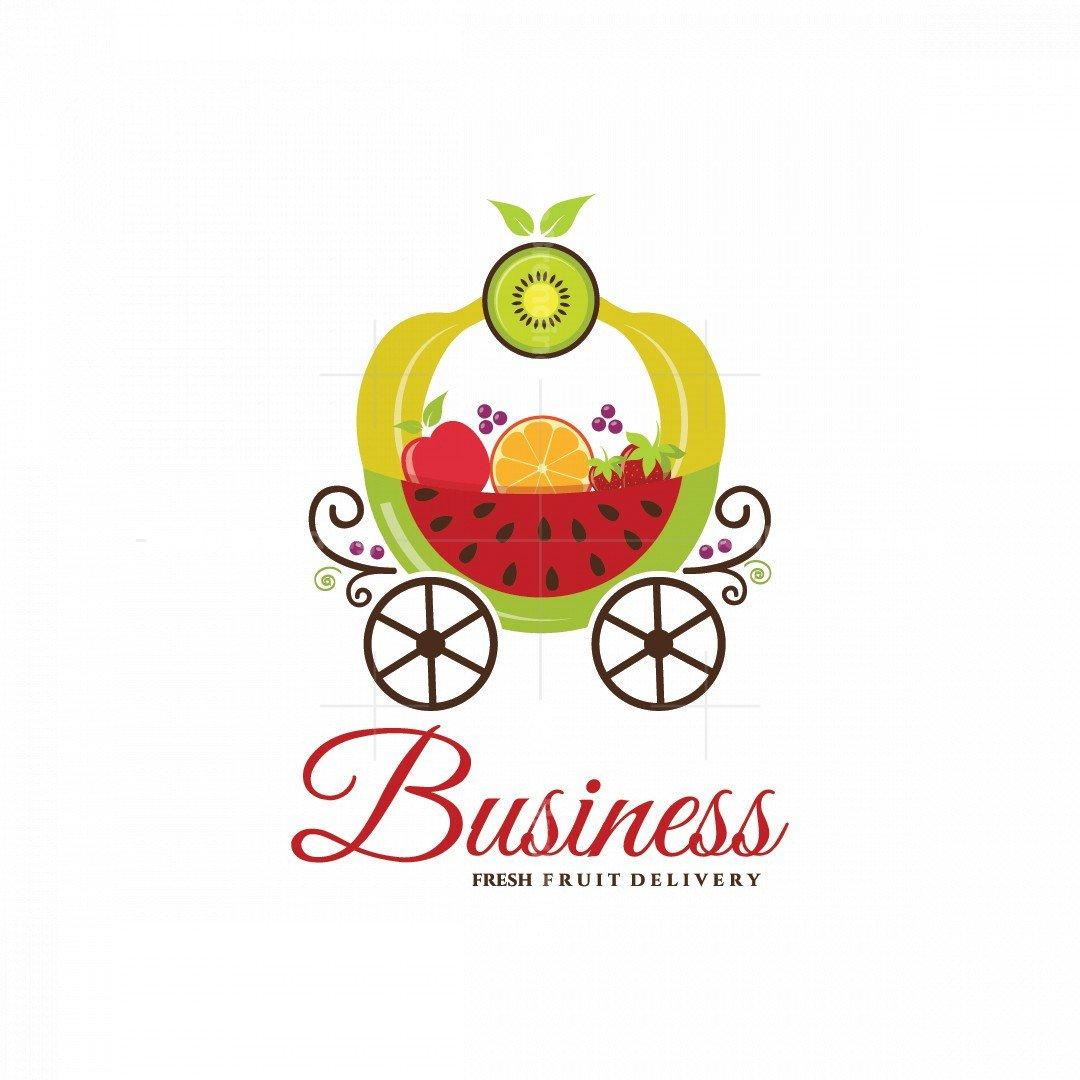 Royal Fruits Home Delivery Pictorial Logo