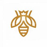 Royal Bee Logo Queen Bee Logo