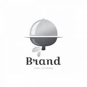 Silver Acorn Food Catering Symbol Logo