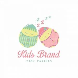Sleeping Eggs Baby Pajamas Character Logo