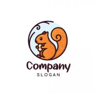 Cute Squirrel Logo