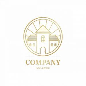 Sun Home Real Estate Symbol Logo