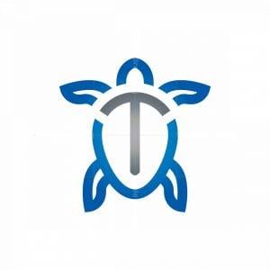 Swimming Turtle Logo