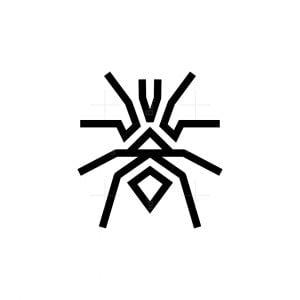 Abstract Tarantula And Lion Icon Logo