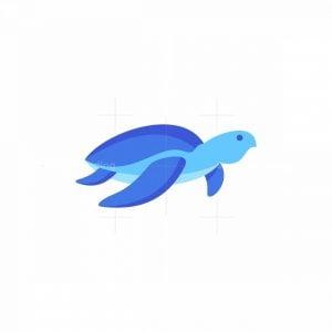 Sea Turtle Icon Logo
