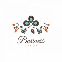 Whimsy Branch Decor Floral Logo