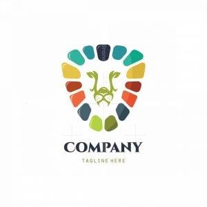 Wild Lion Garden Symbol Logo