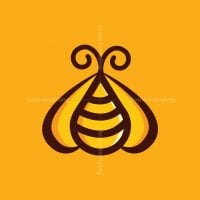 Bee And Honey Drop Logo