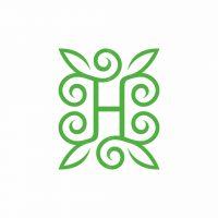 Letter H Nature Logo