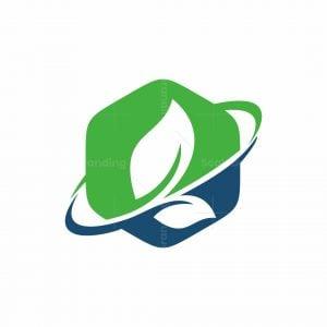 Polygon Leaf Logo