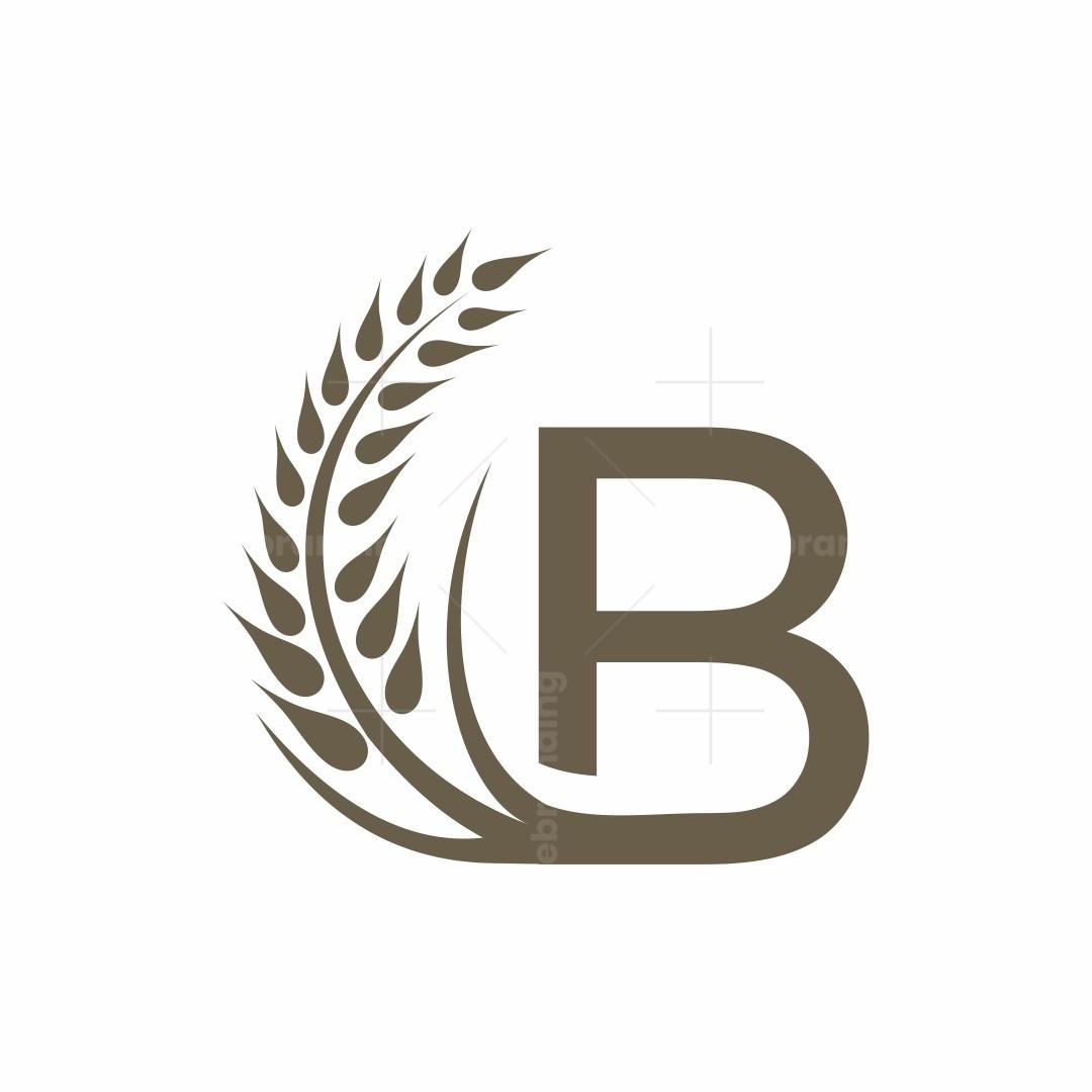 Letter B Wheat Logo