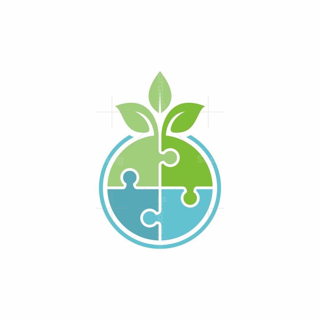 Puzzle Nature Logo