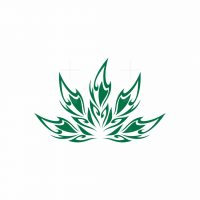 Abstract Cannabis Logo