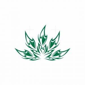 Abstract Cannabis Logo
