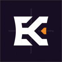 Letter Ek Monoline Logo
