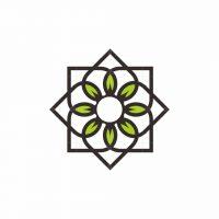 Leaf Flower Line Logo