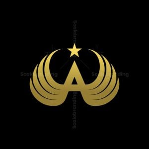Winged Letter A Or Wings A Logo
