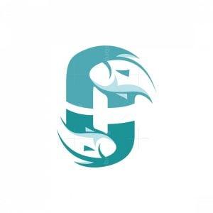 C Letter Fish Logo