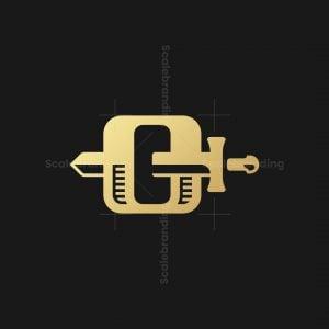 Letter O Sword Logo