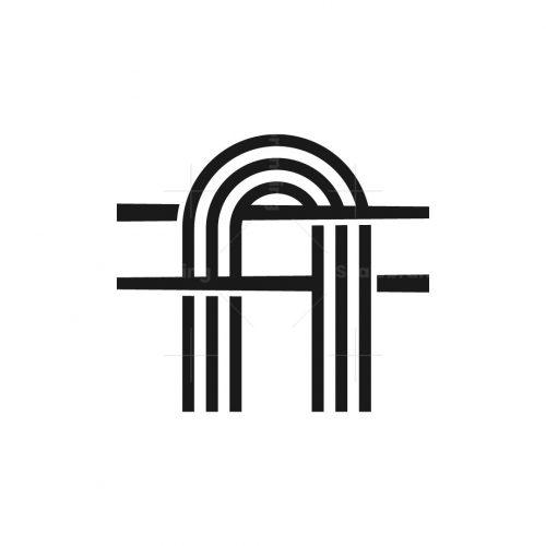 Letter A Noodle Logo