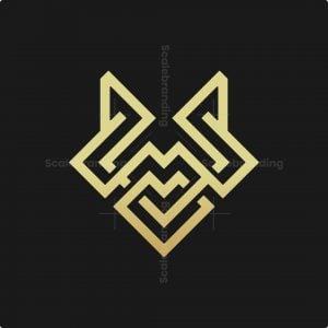 Abstract Knot Head Fox Logo