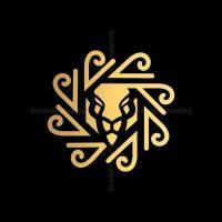 Abstract Lion Sun Logo