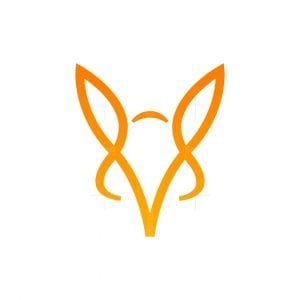 Abstract Minimalist Fox Head Logo