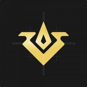Ancient Letter V Logo